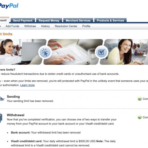 Cek Status Akun Paypal Telah Verified
