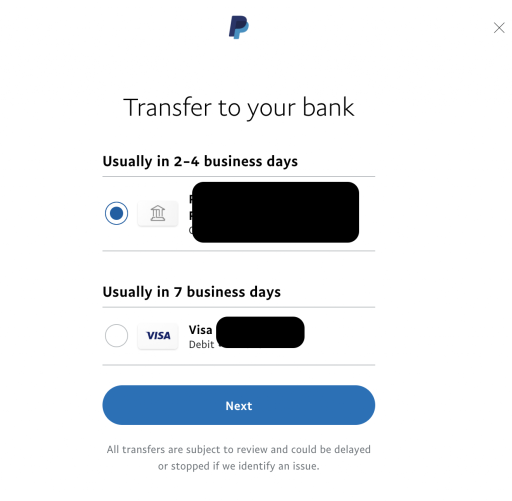 detail withdraw paypal
