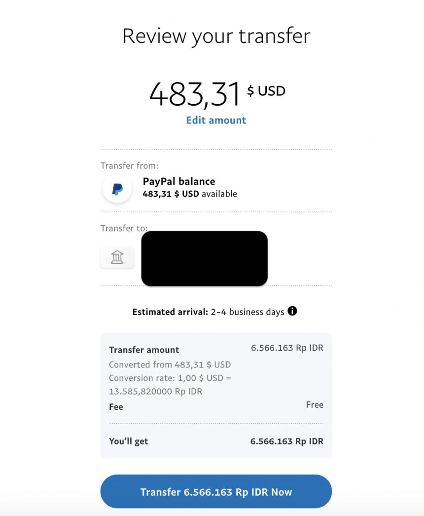 Cara Mencairkan Saldo Paypal Ke Rekening Bank