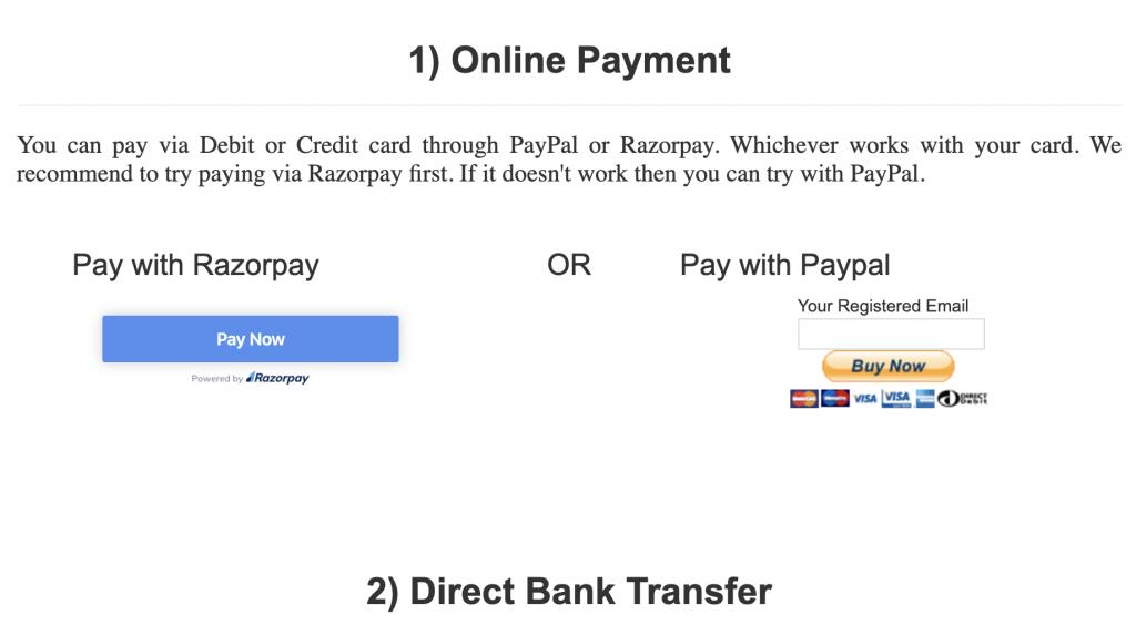 Jasa pembayaran IMUN 2020