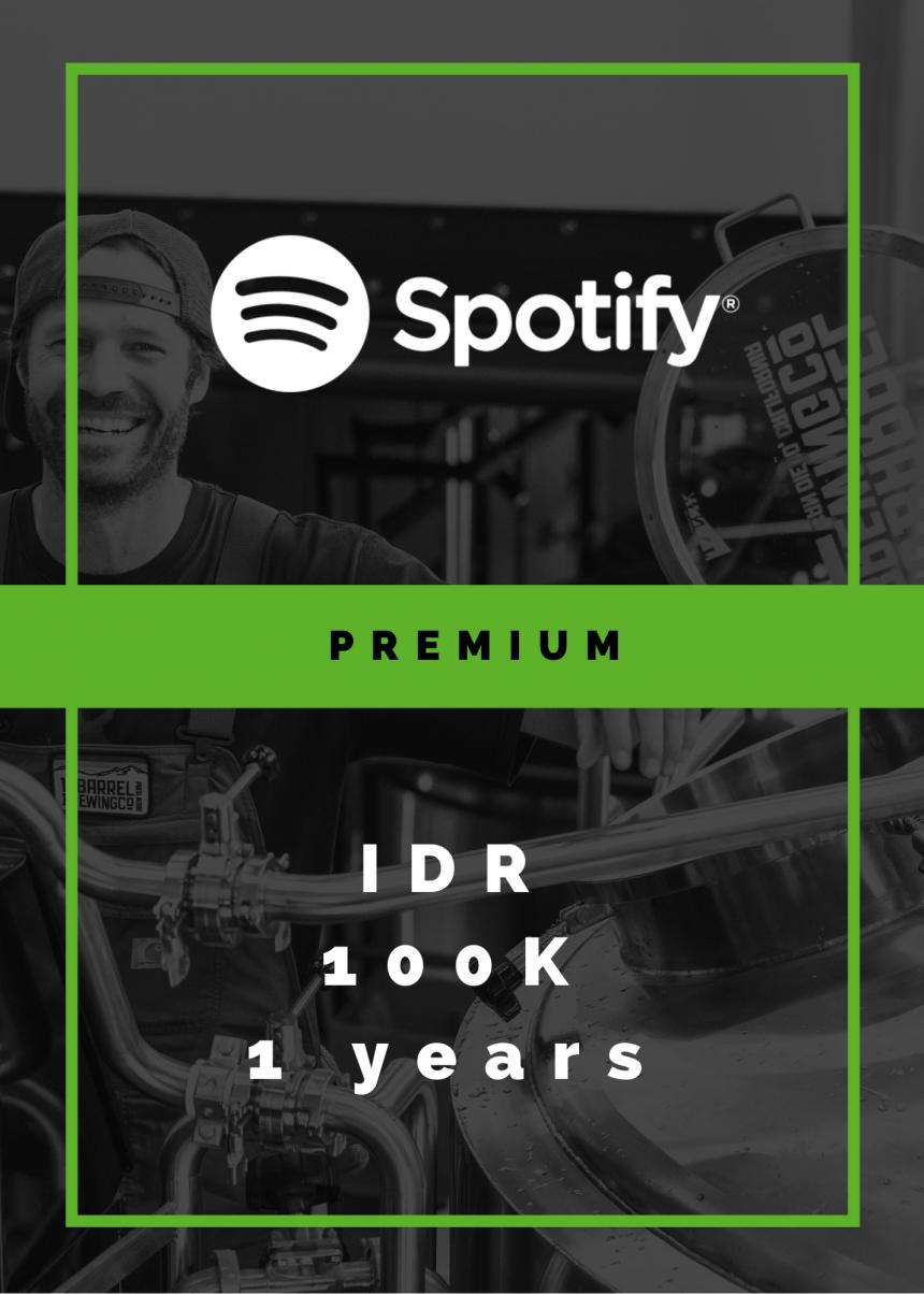 Jual Spotify Premium Legal 1 Tahun – Rp 100.000