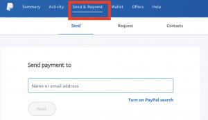 Cara mengirim saldo paypal